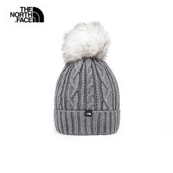 The North Face北面女款灰色舒適保暖戶外運動帽|3FJMDYY