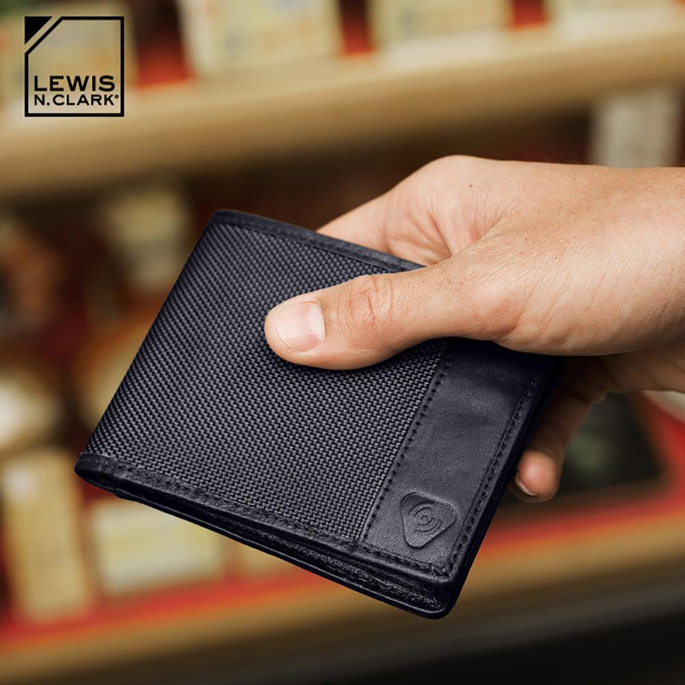 Lewis N. Clark RFID屏蔽尼龍雙折皮夾 940 / 黑色