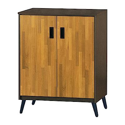 綠活居 明尼達時尚2.7尺雙色二門鞋櫃/玄關櫃-80x36x99cm-免組