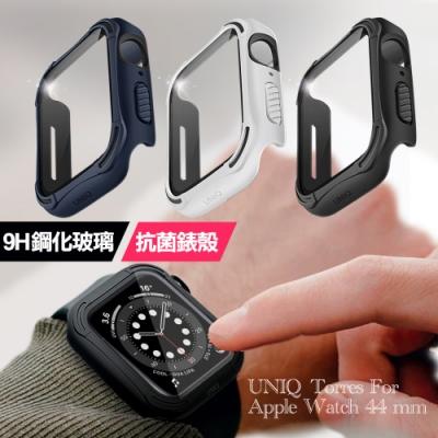 UNIQ for Torres Apple Watch 全包覆9H鋼化玻璃抗菌錶殼- 44mm
