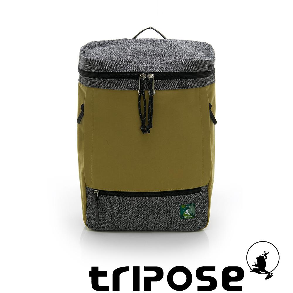 tripose微旅系列 岩紋x尼龍混紡後背包 卡其
