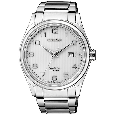 CITIZEN星辰 光動能 百搭時尚鈦金屬腕錶(BM7360-82A)-白/41mm