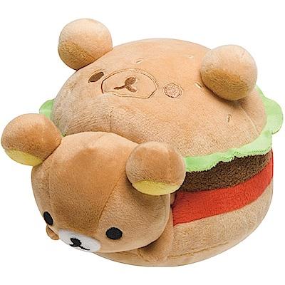 拉拉熊洋食漢堡店系列毛絨公仔。懶熊San-X