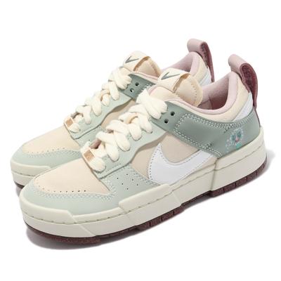 Nike 休閒鞋 Dunk Low Disrupt 運動 女鞋 蒲公英 軟木鞋墊 皮革 帆布 增高 球鞋穿搭 彩 DM6866-210