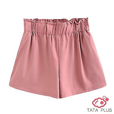 寬鬆花苞素色短褲 共三色 TATA PLUS