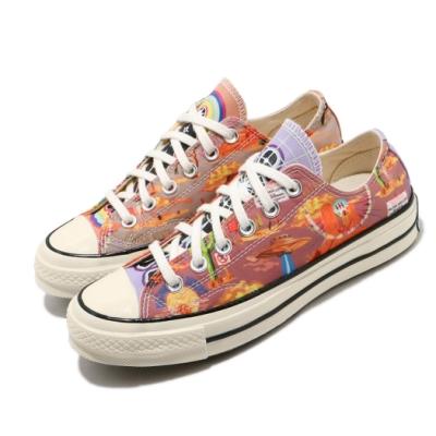 Converse 帆布鞋 Chuck 70 Ox 圖騰印花 女鞋 Twisted Resort 低筒 球鞋 白 彩