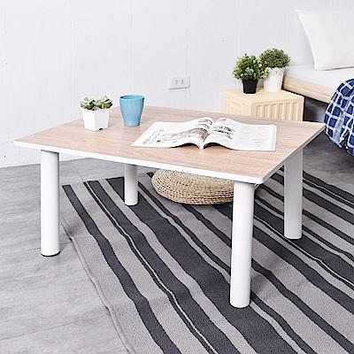 凱堡 木紋風簡約鐵腳茶几 小茶几 矮桌 客廳 茶几桌 80x60x41