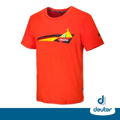 【德國DEUTER】中性款防曬吸溼排汗彈性短袖T恤零碼出清DE-T1401德風紅