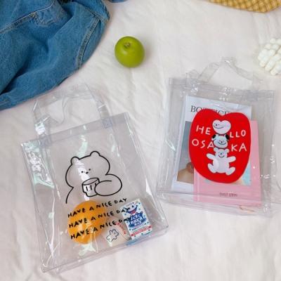 Baby童衣 可愛小熊PVC透明果凍手提包 88607
