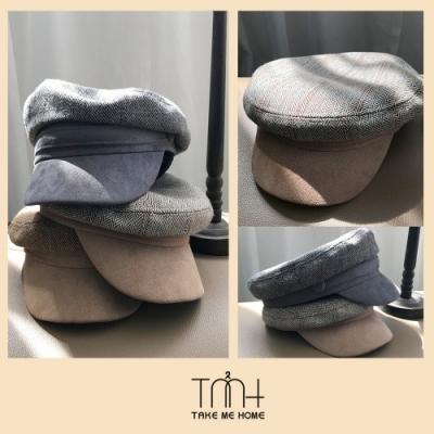 TMH-韓國空運 質感麂皮貝蕾帽-3色