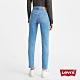Levis 女款 501 Skinny 高腰排釦緊身牛仔褲 淺藍石洗 心機雕飾線 彈性布料 product thumbnail 2