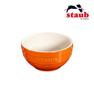 法國Staub 圓型陶瓷碗 12cm 橘色
