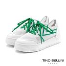 Tino Bellini活力耀眼透膚厚底綁帶休閒鞋_綠