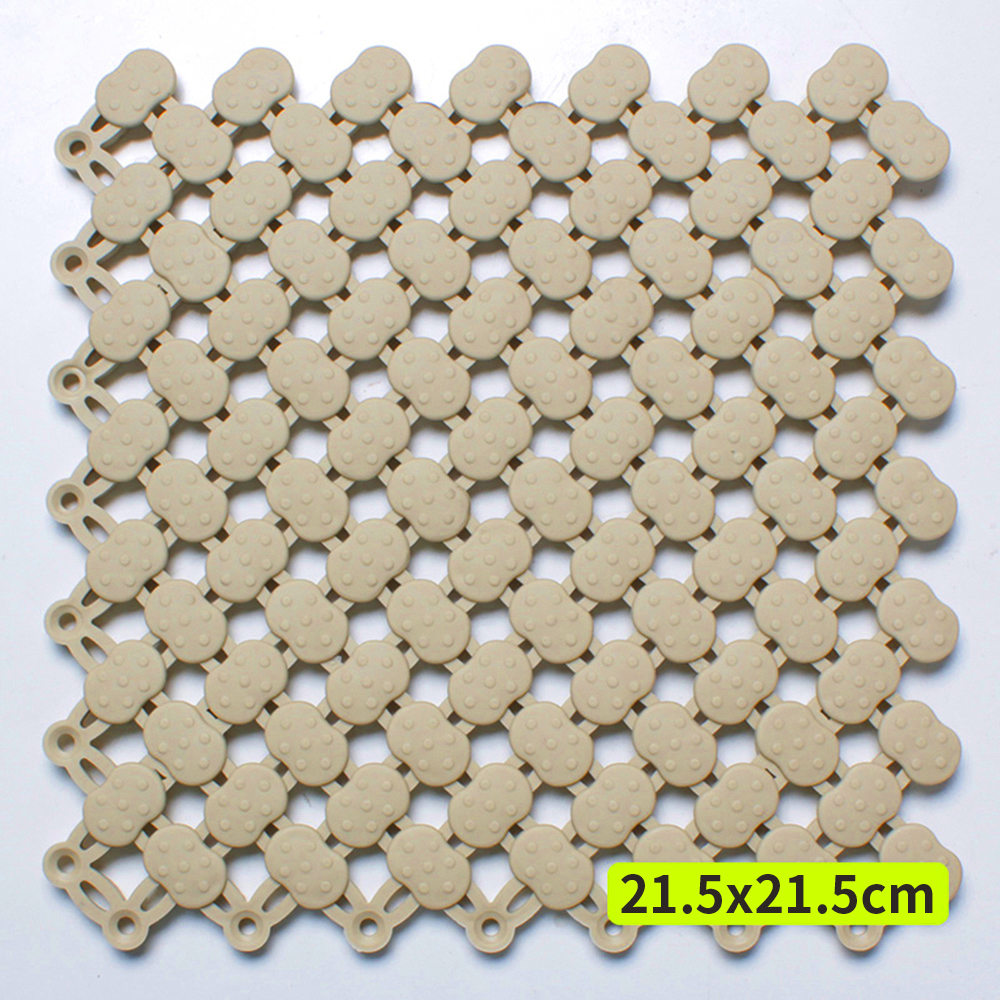 半島良品 可拼接裁剪浴室防滑墊10入(21.5x21.5cm)
