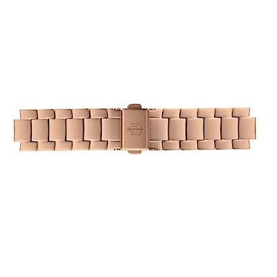 PAUL HEWITT 玫瑰金不鏽鋼鋼帶款 16mm 錶帶