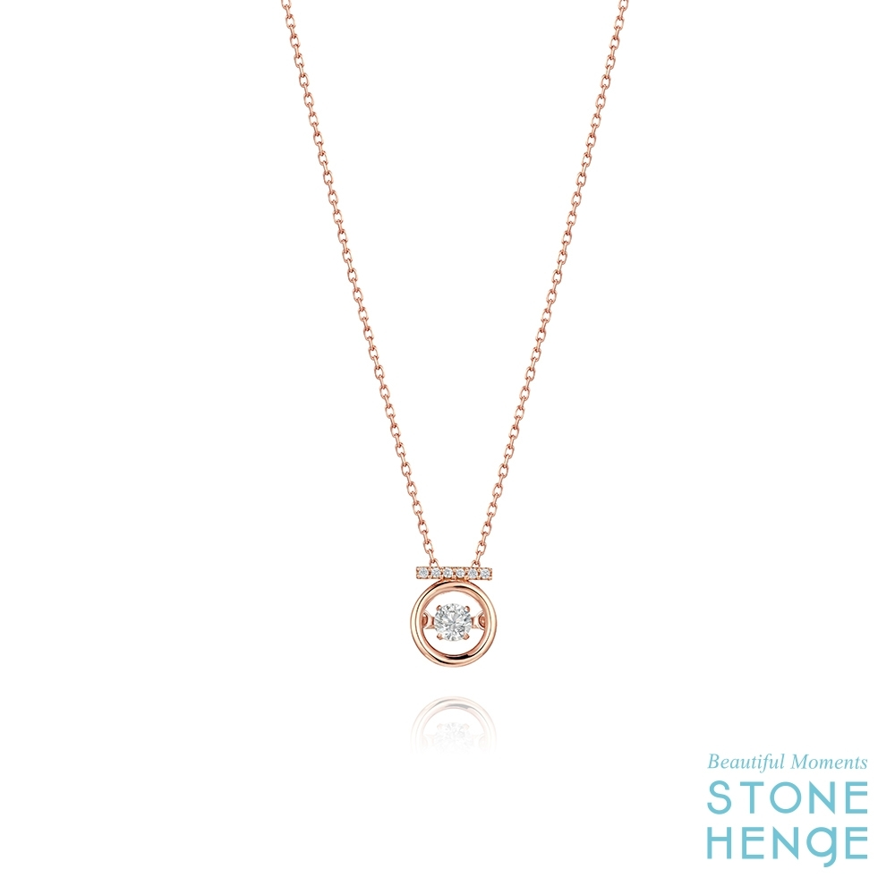 STONEHENGE 斯通亨奇 Stella14K玫瑰金圓形造型鋯石項鍊