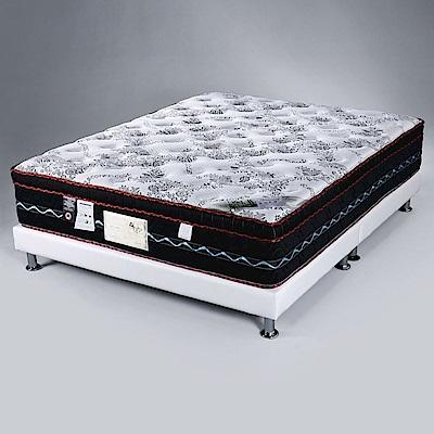 Homelike 都爾三線涼感布乳膠獨立筒床墊-雙人5尺-152x188x30cm