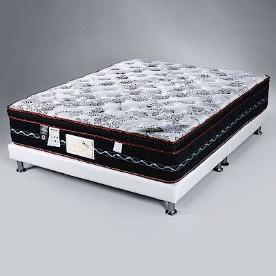 Homelike 都爾三線涼感布乳膠獨立筒床墊-雙人加大6尺-182x188x30cm