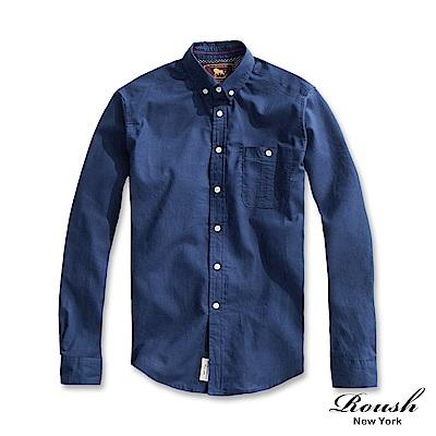 ROUSH 口袋車線設計亞麻襯衫(5色)