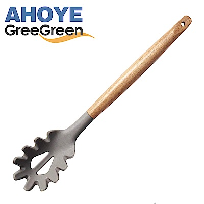GREEGREEN 橄欖木矽膠撈麵勺(快)
