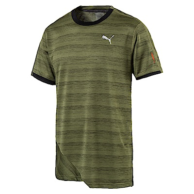 PUMA-男性慢跑系列Pace麻花短袖T恤-橄欖綠(麻花)-歐規