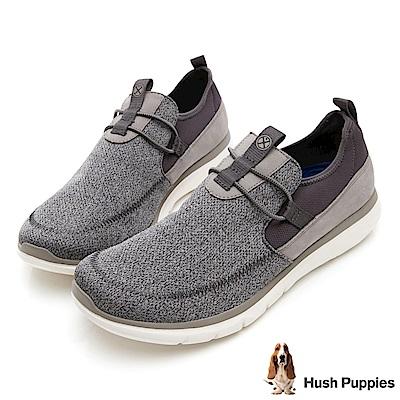 Hush Puppies SPEED 個性風休閒健走鞋-灰
