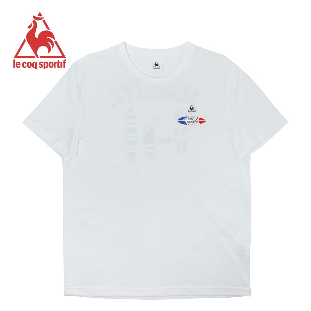 le coq sportif 法國公雞牌海灘衝浪印花短袖T恤 男-白