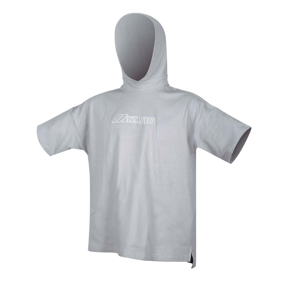 MIZUNO 男 1906系列針織連帽短袖T恤 灰