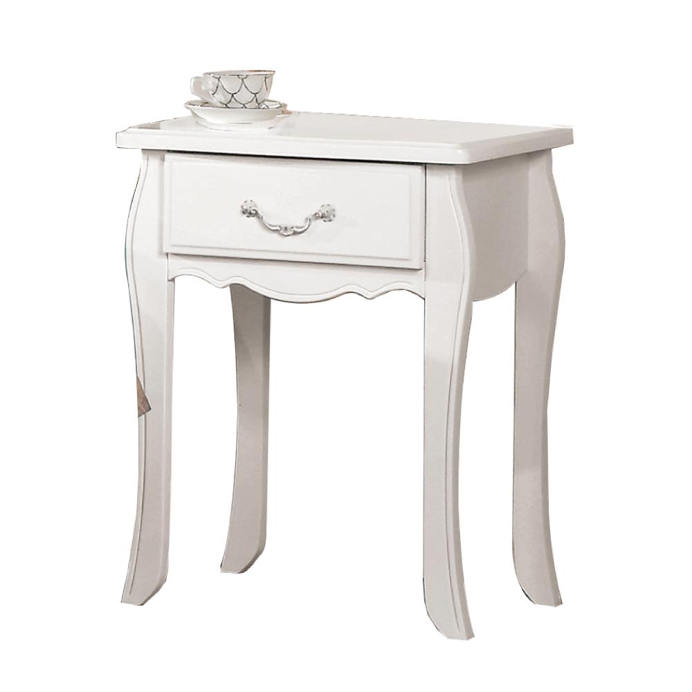 文創集 琳達法式白1.7尺床頭櫃/收納櫃-50x40x66cm免組