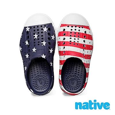 native 小童鞋 JEFFERSON 小奶油頭鞋-紅色國旗紋