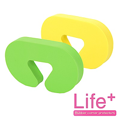 Life Plus 安全防護趣味造型門擋/門夾/門卡_2組4入(小C)