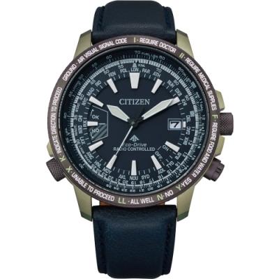 CITIZEN星辰 PROMASTER 飛行光動能鈦金屬電波腕錶-44.3mm(CB0204-14L)