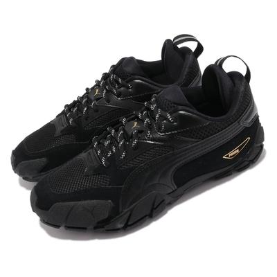 Puma 休閒鞋 Centaur Mono 女鞋 暗黑風格 緩震 透氣網布 穿搭 黑 金 37512701