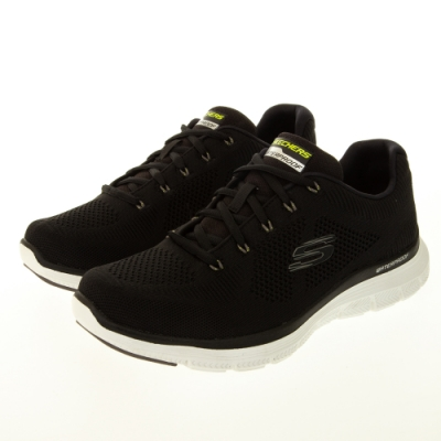 SKECHERS 男運動系列 FLEX ADVANTAGE 4.0 寬楦款 防水鞋面 - 232223WBLK