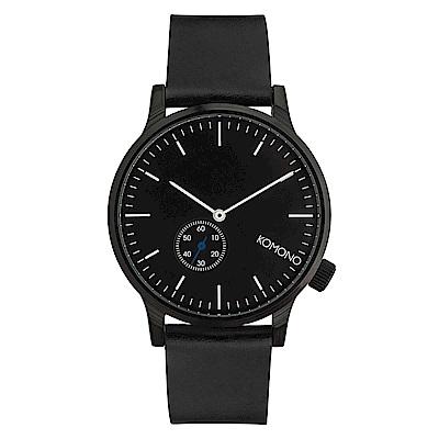 KOMONO Winston Subs 腕錶-性格黑/41mm