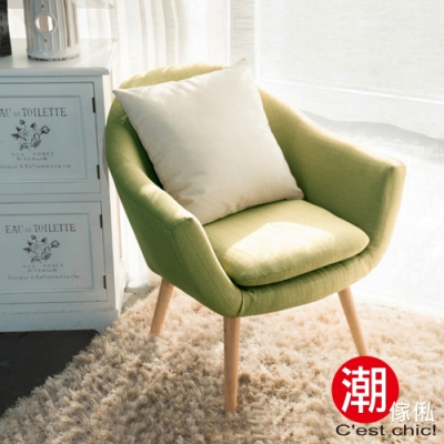 C est Chic_小樹之歌復古單人沙發-綠色 W72*D66.5*H75(SH41)