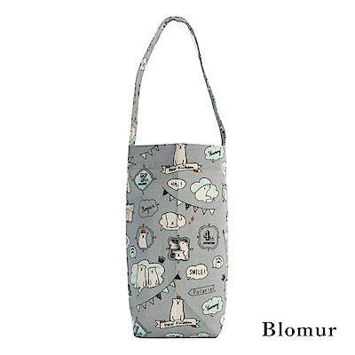 Blomur 長版飲料袋- 玩耍北極熊(灰)
