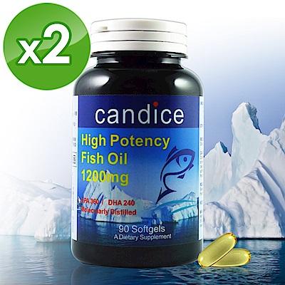 【Candice】康迪斯歐米加600魚油膠囊/超級Omega-3(90顆*2瓶)