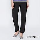 獨身貴族 時代廣場經典純黑直筒西裝褲(1色)