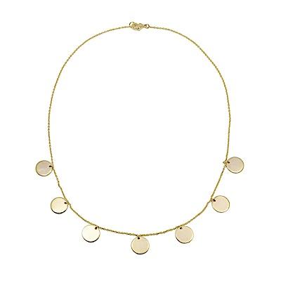 Dorsey 美國時尚品牌 Nina復古圓牌金色項鍊