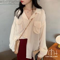 大口袋垂墜感襯衫-3色-TMH