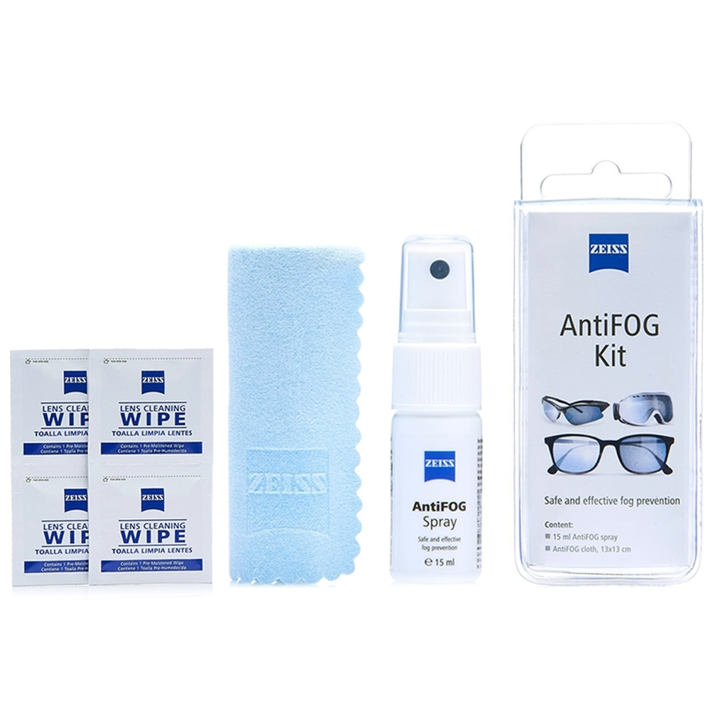 蔡司 Zeiss AntiFOG Kit 專業光學防霧噴霧組x2 + 抗菌拭鏡紙/50張
