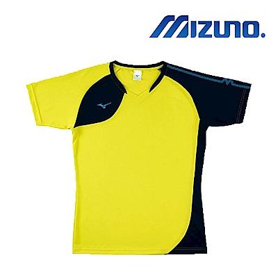Mizuno 美津濃 男女 排球上衣 螢光黃x丈青 V2TA8G1645