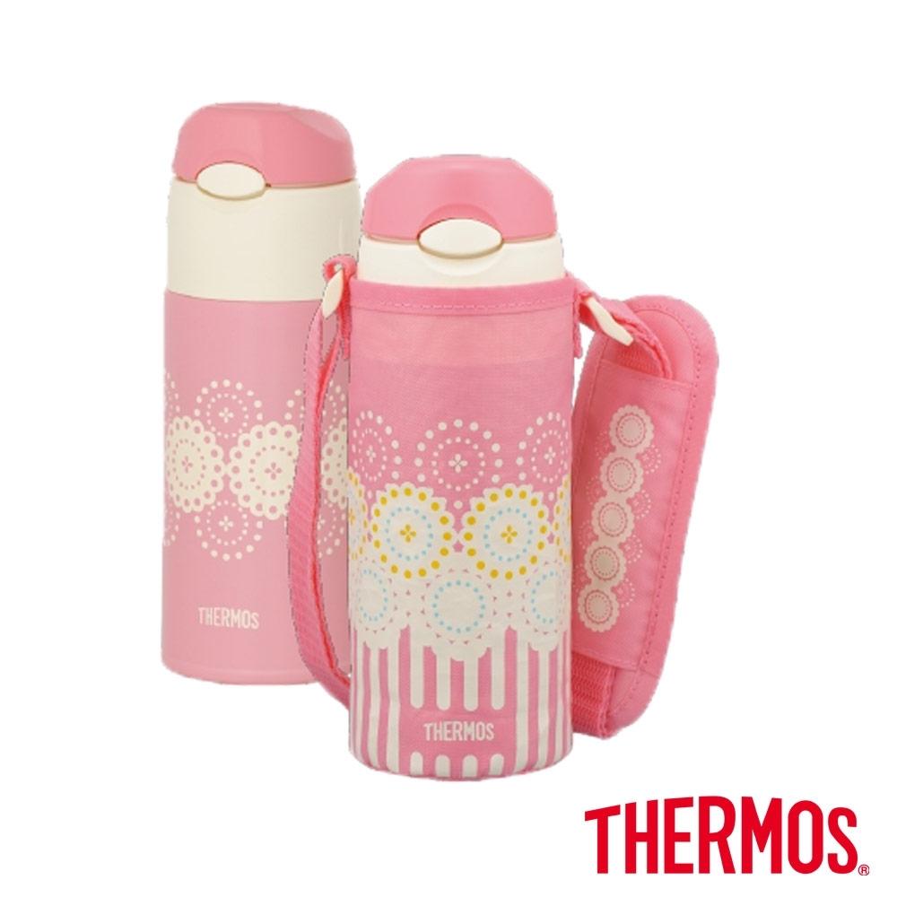 THERMOS膳魔師 兒童水壺 不鏽鋼真空保冷瓶0.4L(FHL-400F-CP)