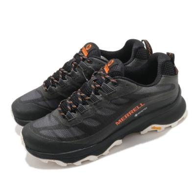Merrell 戶外鞋 Moab Speed GTX 男鞋 登山 越野 耐磨 黃金大底 防水 緩衝 黑 白 ML066769