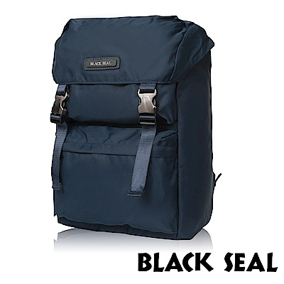 福利品 BLACK SEAL 經典休旅系列 多置物層13吋電腦機能後背包-午夜藍