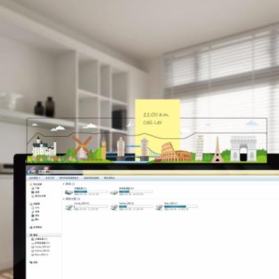 OSHI歐士 電腦螢幕留言備忘版-城市旅行-歐洲/MEMO夾/辦公用品/便利貼/留言板/