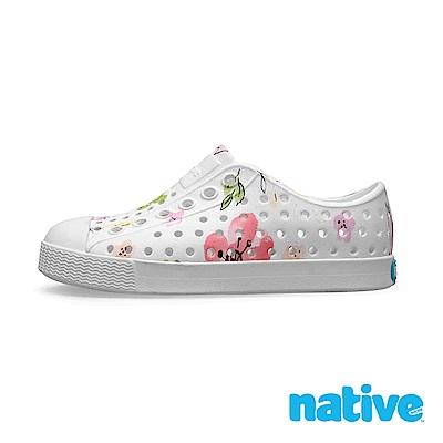 native 小童鞋 JEFFERSON 小奶油頭鞋-花卉白