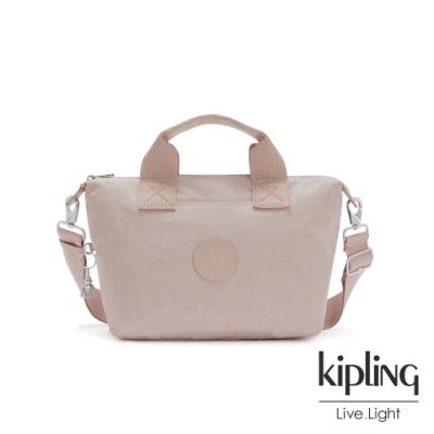 Kipling 玫瑰拿鐵色簡約手提肩背托特包-KALA MINI