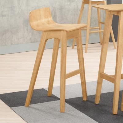 Boden-桑迪實木吧台椅/吧檯椅/高腳椅(二入組合)-43x43x90cm